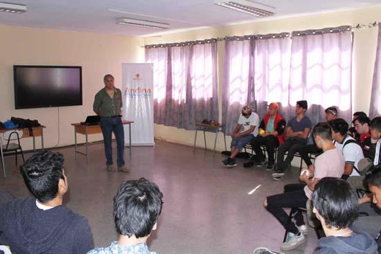 Instructor De Operaciones De Codelco Andina Realiza Charla